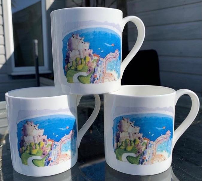 Gorey Castle Mug by Ian Rolls