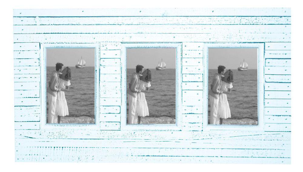Beach Hut Triple Frame White