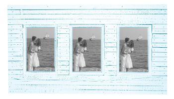 Beach Hut Triple Frame