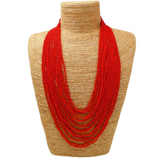 Waterfall Necklace Red - MORE COLOURS AVAILABLE