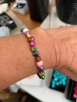 Rainbow Pearl Bracelet