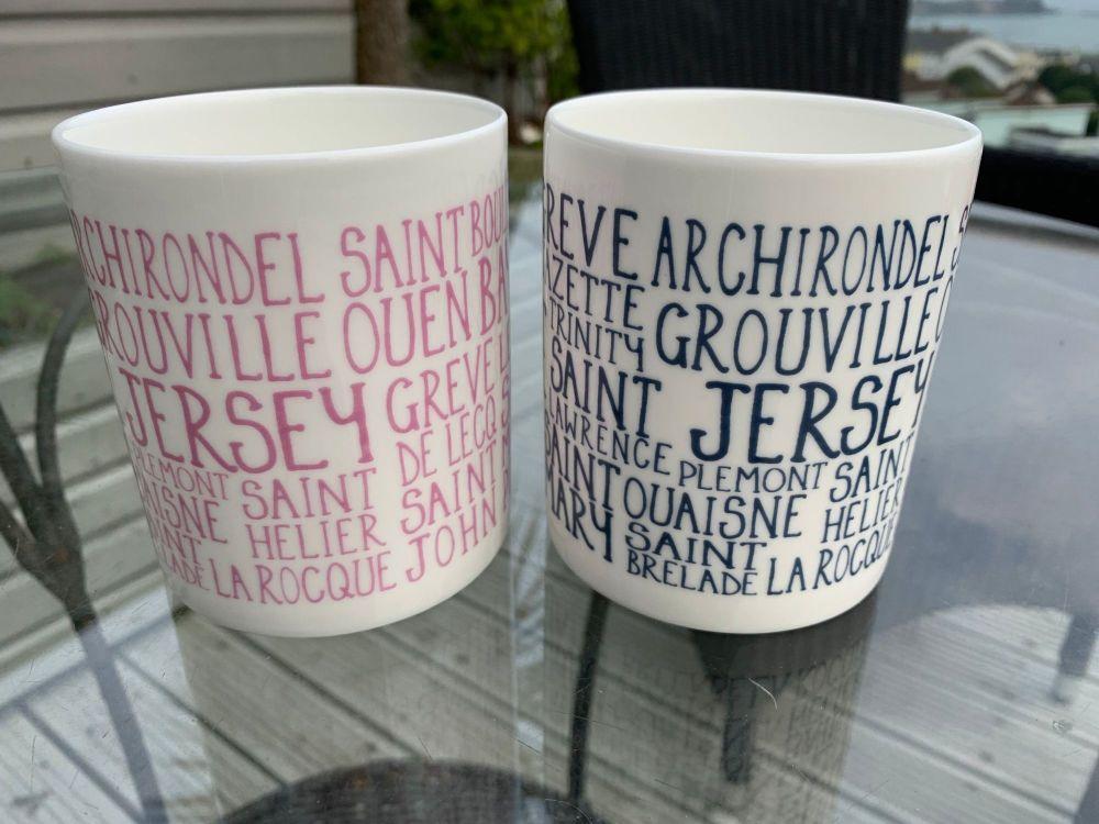 Jersey Beaches & Parishes Mug  3 COLOURS