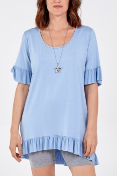 Scoop Neck Frill Top - MORE COLOURS AVAILABLE