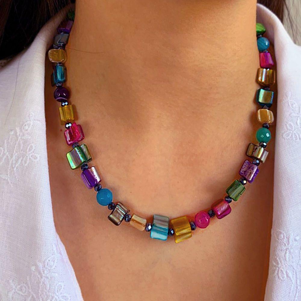 Rainbow Shell Necklace