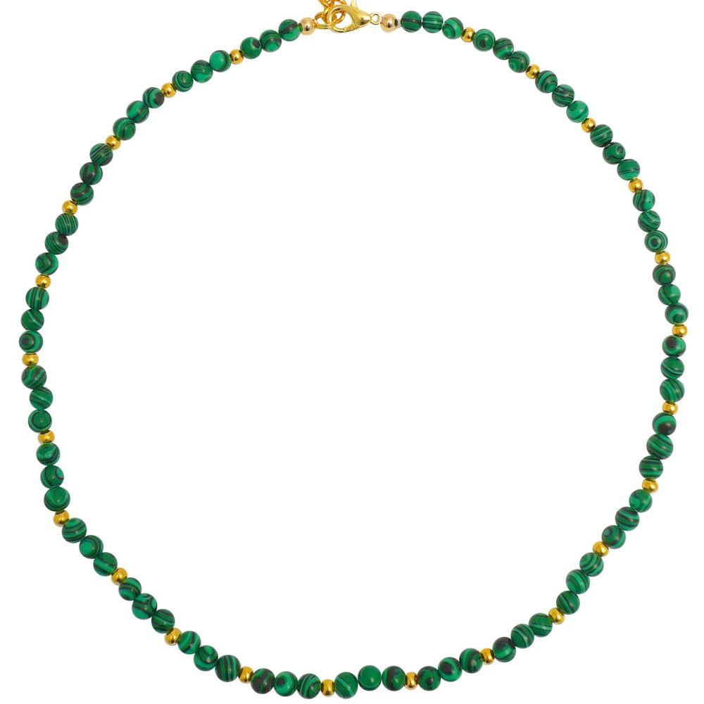Malachite Green Bead Necklace