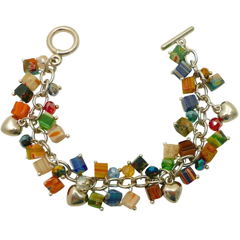 Millefiori T Bar Bracelet