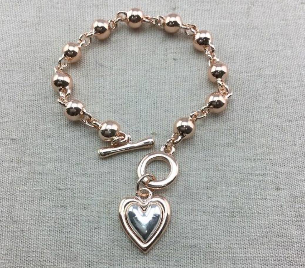 Heart Drop Beaded Bracelet