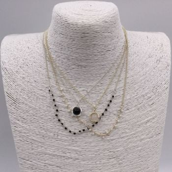 Double Layer Stone Necklace