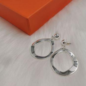 Hammered Hoops Stud Earring