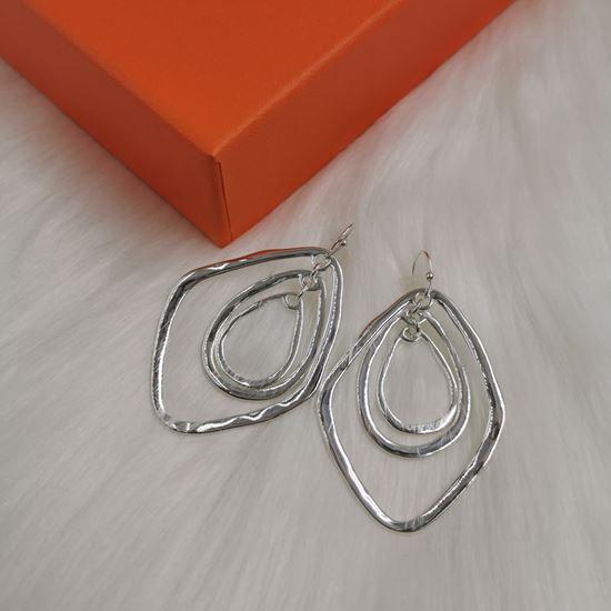 Triple Oval Large Earrings
