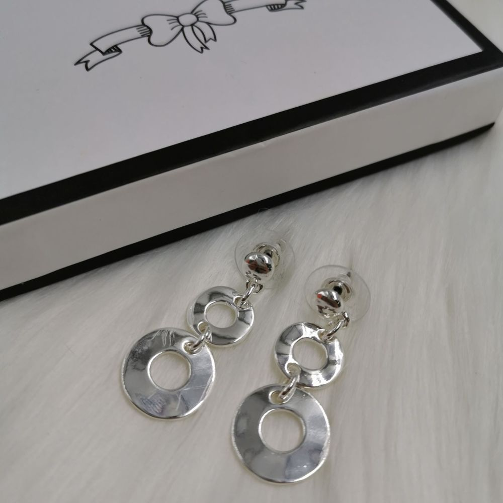 60s Style Double Circle Earrings