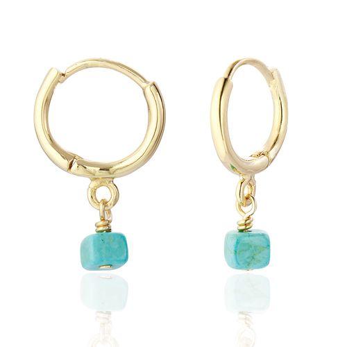 Anaya Hoop Earrings wiht Semi Precious Stone