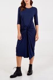 3/4 Sleeve Parachute Midi Dress