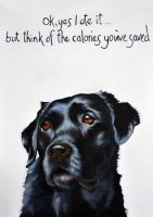 Labrador- Ok yes I ate it... By Kathy Rondel