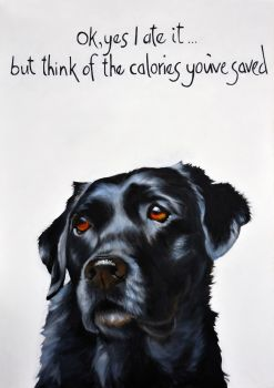Labrador- Ok yes I ate it... By Kathy Rondel- AVAILABLE TO ORDER NOW