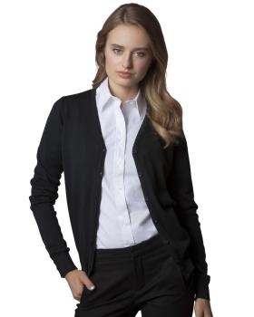 Kustom Kit Ladies' Arundel Long Sleeve V-Neck Cardigan
