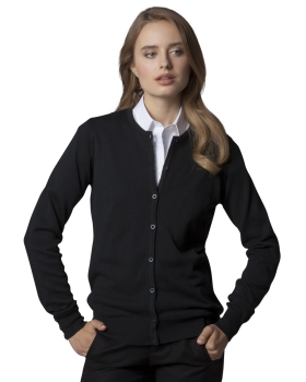 Kustom Kit Ladies' Arundel Long Sleeve Round Neck Cardigan