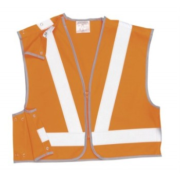 HYM012 Hymac Hi Vis Short Rail Vest (Orange)