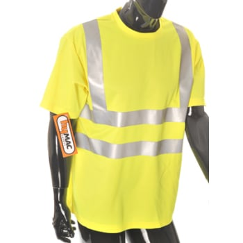 HYM874 Hymac Hi Vis T-Shirt with Hi Vis Tape (Yellow)