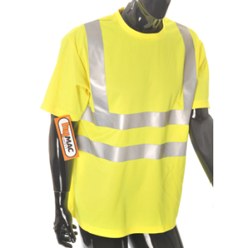 HYM874 Hymac Hi Vis T-Shirt with Hi Vis Tape (Yellow)
