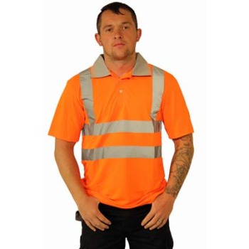 HYM775 Hymac Hi Vis Polo Shirt (Orange)