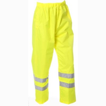 HYM461 Hymac Hi Vis Breathable Contractor Trousers (Yellow)