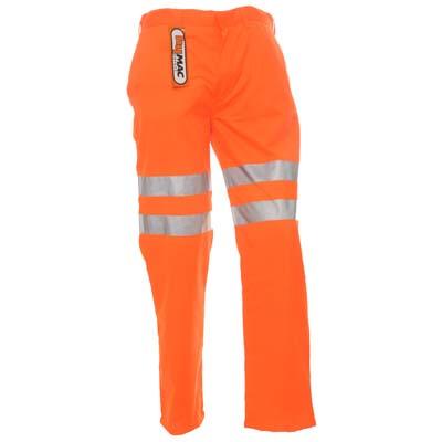 HYM014 Hymac Hi Vis Trousers Polly Cotton (Orange)