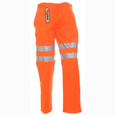 HYM054 Hymac Hi Vis Trousers Poly Cotton Elastic Waist (Orange)