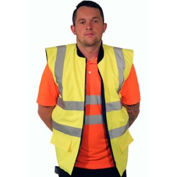 Hi Vis Bodywarmer (Yellow)