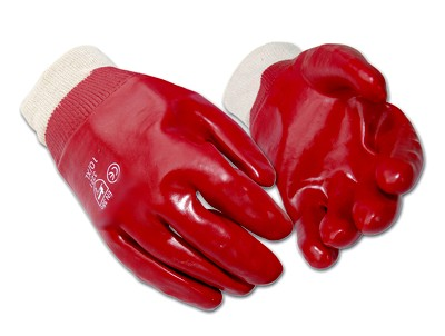HYM090 Hymac PVC Knit Wrist Gloves (red)