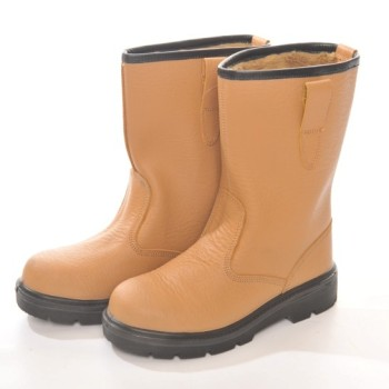 HYM502 Hymac Lined Rigger Boots S1P (Tan)
