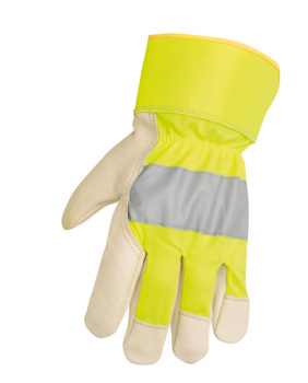 RPR005 Hymac Hi Vis Rigger Pro Safety Gloves (Yellow)