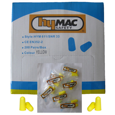 HYM611 Hymac Cordless Earplugs (Packs 500 Singles)