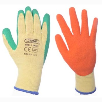 Latex Palm Grip Glove (Green / Orange)
