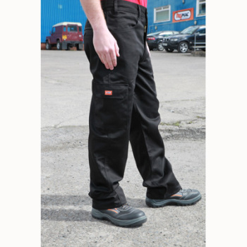 HYM891 Hymac Cotton Twill Trousers (Black)