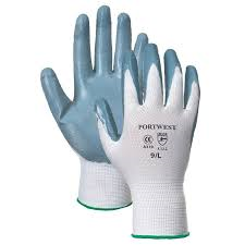 PWA310 Portwest Flex Grip Nitrile Palm Gloves Polyester Shell