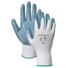 PWA310 Portwest Flex Grip Nitrile Palm Gloves Polyester Shell