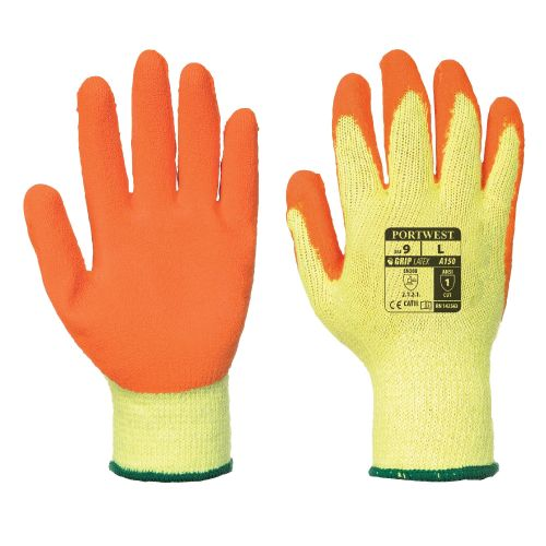 A150 Portwest Fortis Latex Grip Gloves Carton (120 Pairs)