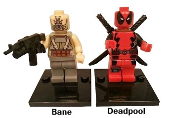 Superhero Building Block Minifigures