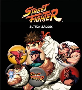 Street Fighter Button Badge Pack