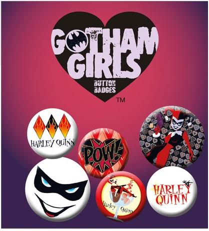 Gotham Girls - Harley Quinn - Button Badge Pack