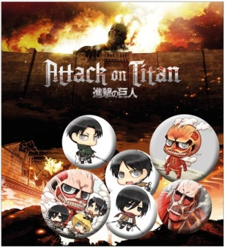 Attack on Titan Button Badge Pack