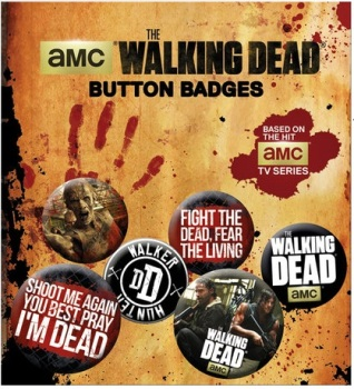 The Walking Dead Phrases Button Badge Pack