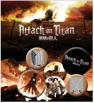 Attack on Titan Characters Button Badge Pack