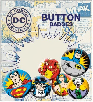 DC Comics Heroes and Villians - Button Badge Pack