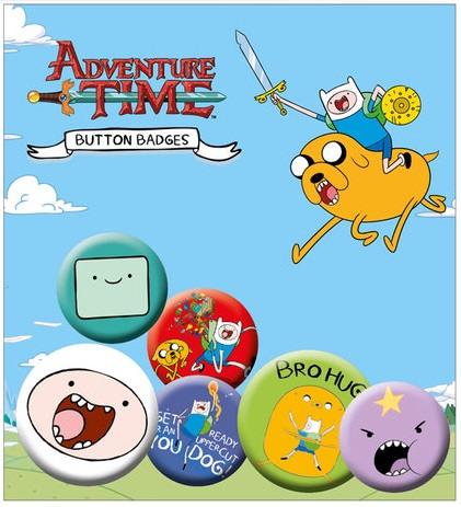 Adventure Time Button Badge Pack