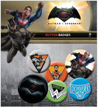 Batman Vs Superman Button Badge Pack