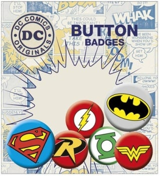 DC Comics Logos Button Badge Pack