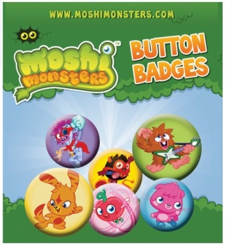 Moshi Monsters Button Badge Pack