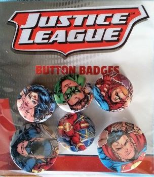 DC Comics Justice League Button Badge Pack